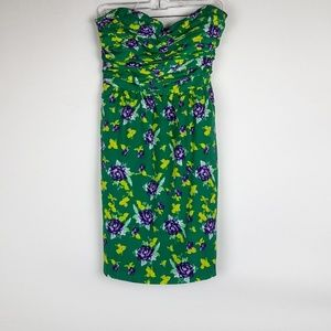 Cute Green and Floral Strapless Dress from The Gap